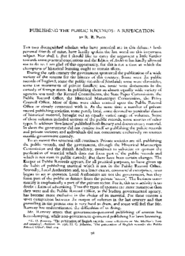 PUBLISHING THE PUBLIC RECORDS: A REPLICATION
