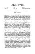 WEST INDIAN ARCHIVES-AN OPPORTUNITY