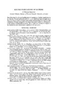RECORD PUBLICATIONS OF SOCIETIES