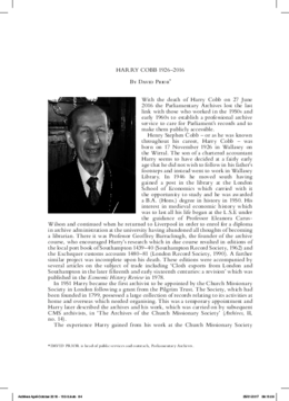 HARRY COBB 1926–2016