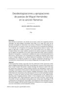 Desideologizaciones y apropiaciones de poesías de Miguel Hernández en la canción flamenca