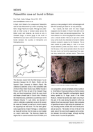 Palaeolithic cave art found in Britain