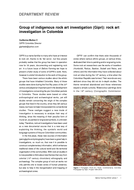 Group of indigenous rock art investigation (Gipri): rock art investigation in Colombia