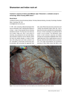 Shamanism and Indian rock art