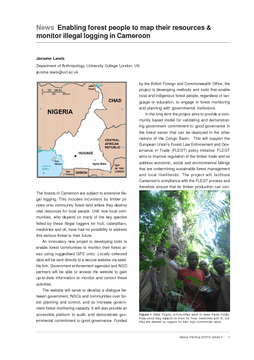 News Enabling forest people to map their resources & monitor illegal logging in Cameroon