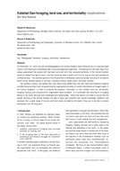 Kalahari San foraging, land use, and territoriality