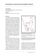 Seventy years of south Indian hunter-gatherer research