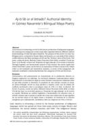Aj-ts'íib or el letrado? Authorial Identity in Gómez Navarrete's Bilingual Maya Poetry