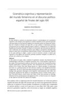 Gramática cognitiva y representación del mundo femenino en el discurso político español de finales del siglo XIX