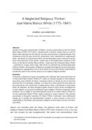A Neglected Religious Thinker: José María Blanco White (1775-1841)
