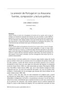 La anexión de Portugal en La Araucana: fuentes, composición y lectura política