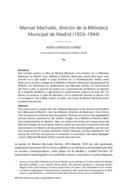 Manuel Machado, director de la Biblioteca Municipal de Madrid (1924-1944)