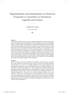 Representation and Interpretation of Historical Characters in Cervantes's La Numancia: Jugurtha and Viriatus