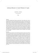 Literary Allusion in Javier Marías's El siglo