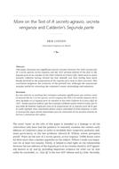 More on the Text of A secreto agravio, secreta venganza and Calderón's Segunda parte