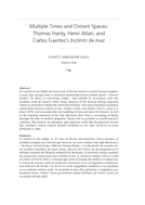 Multiple Times and Distant Spaces: Thomas Hardy, Henri Atlan, and Carlos Fuentes's Instinto de Inez