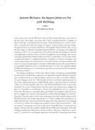 Jerome McGann: An Appreciation on his 70th Birthday