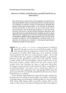 Between Freedom and Belonging: Ignatieff and Berlin on Nationalism
