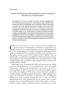 Canada, the Americas and the World: Economic Linkages in the New Era of Globalisation