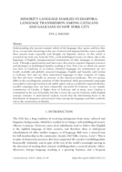 MINORITY LANGUAGE FAMILIES IN DIASPORA: LANGUAGE TRANSMISSION AMONG CATALANS AND GALICIANS IN NEW YORK CITY