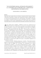 """""""NO M'ESTIMIS MASSA; ESTIMA'M SÀVIAMENT"""": LA CONSTRUCCIÓ LITERÀRIA DE LA IDENTITAT MONSTRUOSA DE BARCELONA"""