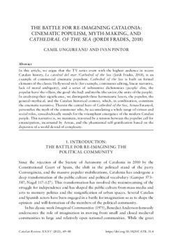 THE BATTLE FOR RE-IMAGINING CATALONIA: CINEMATIC POPULISM, MYTH-MAKING, AND CATHEDRAL OF THE SEA (JORDI FRADES, 2018)