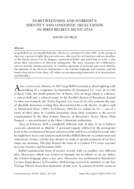 IN-BETWEENNESS AND HYBRIDITY: IDENTITY AND LINGUISTIC DELECTATION IN SERGI BELBEL'S MEXICATAS