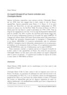 Un regard rétrospectif sur l'avenir: entretien avec Christophe Martet