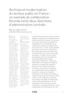 Archives et modernisation du secteur public en France: un exemple de collaboration féconde entre deux directions d'administration centrale