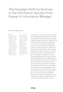The Paradigm Shift for Archives in the Information Society: From Keeper to Information Manager
