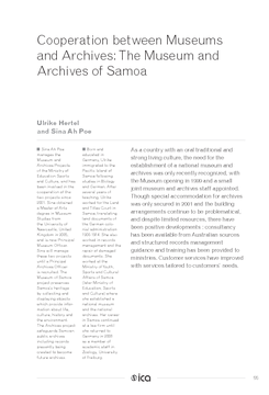 Cooperation between Museums and Archives: The Museum and Archives of Samoa