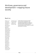 Archives, governance and development - mapping future society