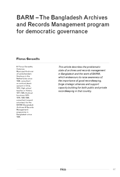 BARM - The Bangladesh Archives and Records Management program for democratic governance