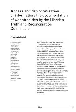 Access and democratisation of information: the documentation of war atrocities by the Liberian Truth and Reconciliation Commission