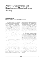 Archives, Governance and Development: Mapping Future Society