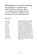 Management of archives relating to population resettlement from the Three Gorges Dam on the Yangtze: a keystone for governance and development