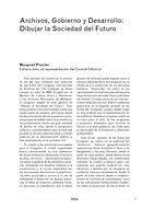 Archivos, Gobierno y Desarrollo: Dibujar la Sociedad del Futuro