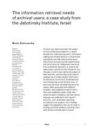The information retrieval needs of archival users: a case study from the Jabotinsky Institute, Israel