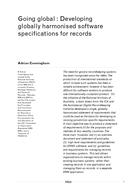 Going global : Developing globally harmonised software specifications for records