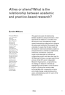 Allies or aliens? What is the relationship between academic and practice-based research?