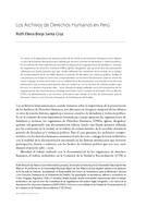 Los Archivos de Derechos Humanos en Perú