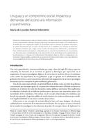 Uruguay y un compromiso social: impactos y demandas del acceso a la información y la archivística