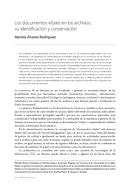 Los documentos vitales en los archivos: su identificación y conservación