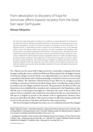 From devastation to discovery of hope for tomorrow: efforts towards recovery from the Great East Japan Earthquake