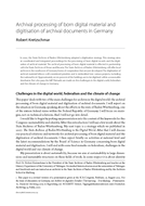 Archival processing of born digital material and digitisation of archival documents in Germany