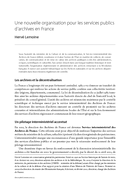 Une nouvelle organisation pour les services publics d'archives en France