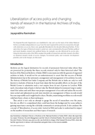 Liberalization of access policy and changing trends of research in the National Archives of India, 1947-2007