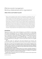 Effective records management: Working collaboratively within organizations