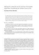Valoración y selección en los archivos municipales españoles. Una década de cambios (2004–2014)