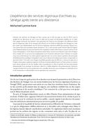 L'expérience des services régionaux d'archives au Sénégal après trente ans d'existence